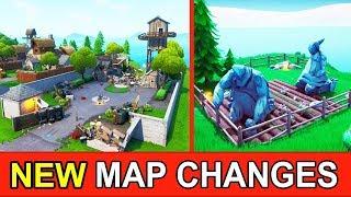 ALL *NEW* FORTNITE MAP CHANGES! MONSTER DESTROYED SNOBBY (FORTNITE STORYLINE UPDATE)