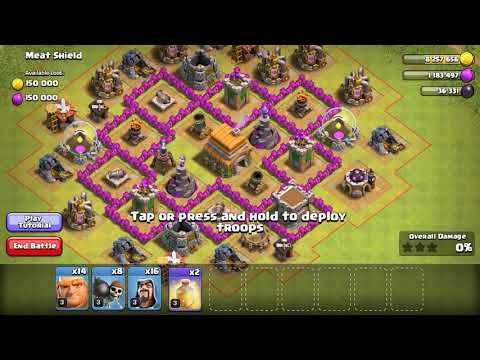 Strategy Destroys Meat Shields In Practice Mode Coc 2019