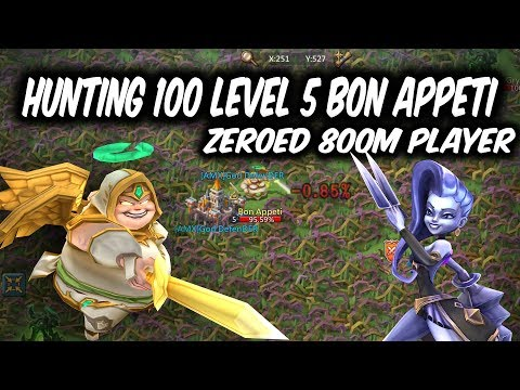 Hunting 100 Level 5 Bon Appeti Good Drop Rate ? - Lords Mobile