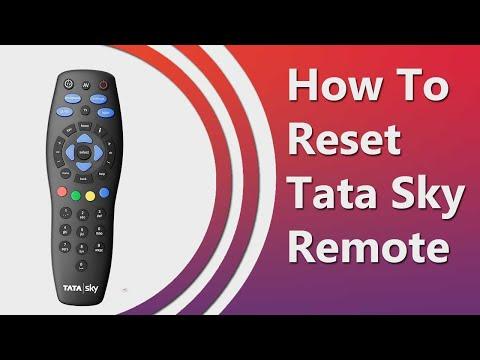 how-to-reset-tata-sky-remote-2020- -unpair-tata-sky-remote-with-tv-remote- -factory-reset-tata-sky