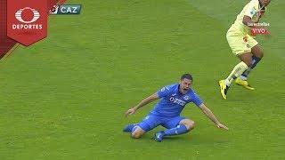 Lesión de Aguilar | América 0 - 0 Cruz Azul | Clausura 2019 - Jornada 14 | Televisa Deportes