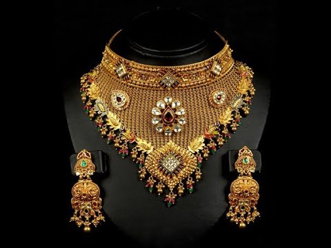 d5c7e346e3772c New Bridal Broad Gold Necklace Designs|| indian Bridal Broad Gold Necklace  Designs