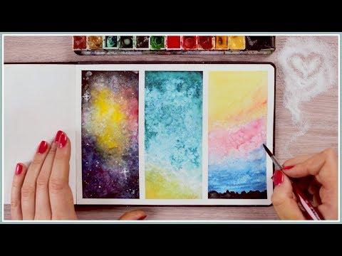 Using Salt | Watercolor Painting Ideas & Techniques for Beginners  Art Journal Thursday Ep. 44