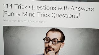 Trick Questions Day 2