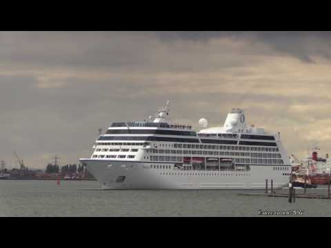 Southampton Docks Cruise Ships 4 Departures plus S.S Shieldhall 4/8/17