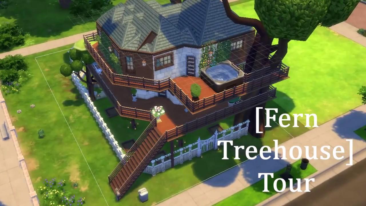 Urban treehouse sims 4 houses - Sims 4 Fern Tree House Tour