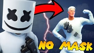 I removed the Masks on Fortnite Skins! *SHOCKING* (Marshmello)