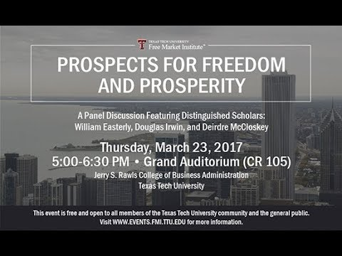 """Prospects for Freedom and Prosperity"""