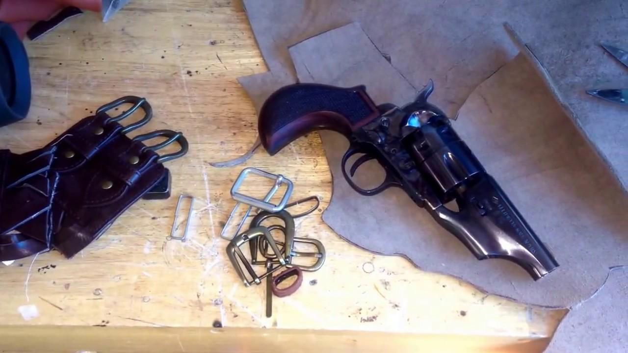Custom leather belly Gun shoulder holster