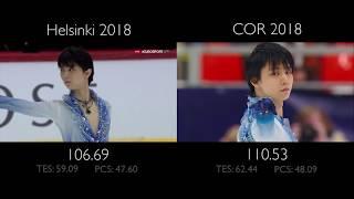 Yuzuru Hanyu SP -  Otoñal | Helsinki vs COR