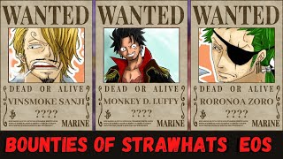 After attacking a world noble and breaking into and leading an unprecedented mass breakout from impel down, luffy participated in the summit war of marineford and caused much chaos on the battlefield, thus his bounty was raised to 400,000,000. Straw Hats Insanely High Bounties At The End Of The Series One Piece Bounty Discussion Youtube