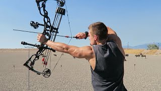 Repeat youtube video NEW LONG BOW and COMPOUND SET UP!!