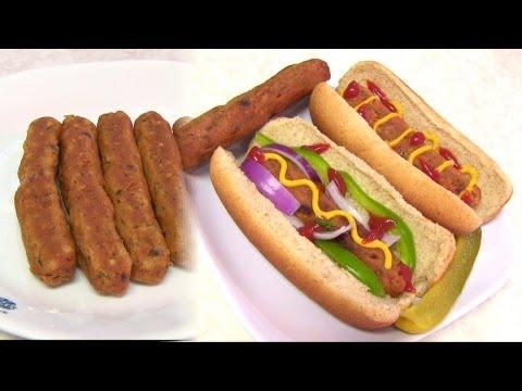 Homemade Vegetarian HOT DOG Video Recipe Vegan & Gluten free
