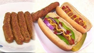 Homemade Vegetarian HOT DOG - Video Recipe - Vegan & Gluten free(Download Bhavna's Kitchen apps for Android, iPhone and iPad More recipes at http://www.bhavnaskitchen.com http://www.indianrecipevideo.com ..., 2012-10-20T21:24:14.000Z)