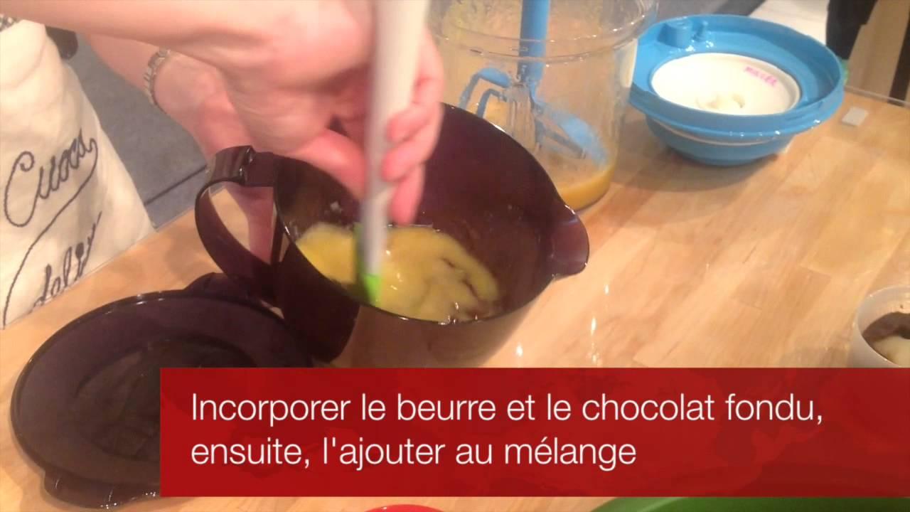 Gateau poire chocolat tupperware
