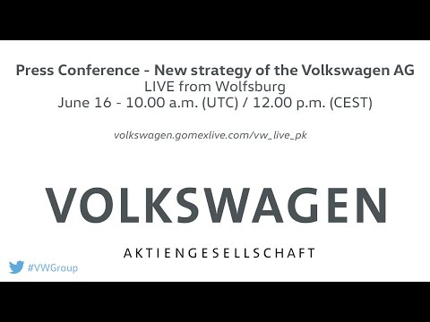 LIVE: Press Conference - Strategy 2025 Volkswagen AG [June 16]