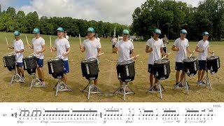 """2017 Madison Scouts Snares - LEARN THE MUSIC to """"O2"""""""