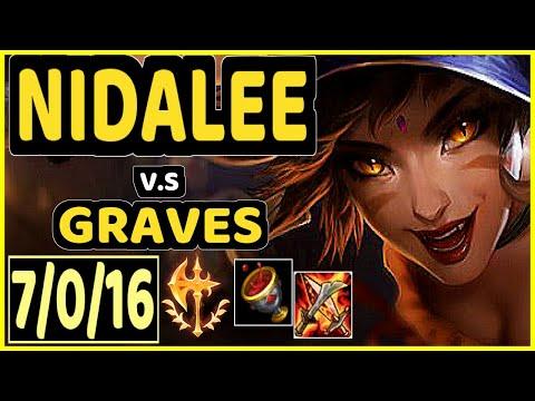 PEANUT (NIDALEE) vs GRAVES - 7/0/16 KDA JUNGLE CHALLENGER GAMEPLAY - KR