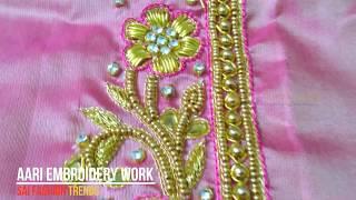 Model #1053 - Aari Embroidery Work by Sai Fashion Trends in Chennai