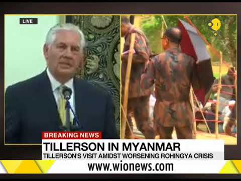 Breaking News: US Secretary of State Rex Tillerson meets Suu Kyi in Myanmar