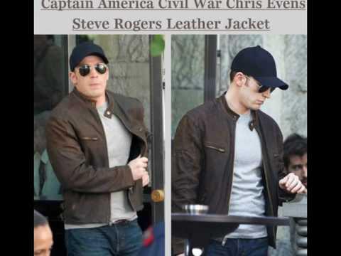 Captain America Civil War Chris Evens Steve Rogers Leather Jacket