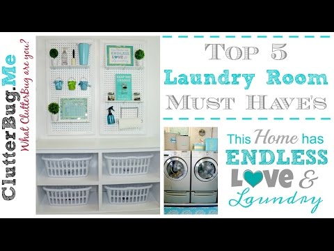 5 Laundry Room Must Haves