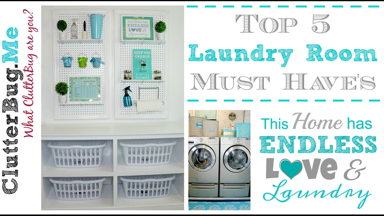 5 Laundry Room Must Haves Youtube