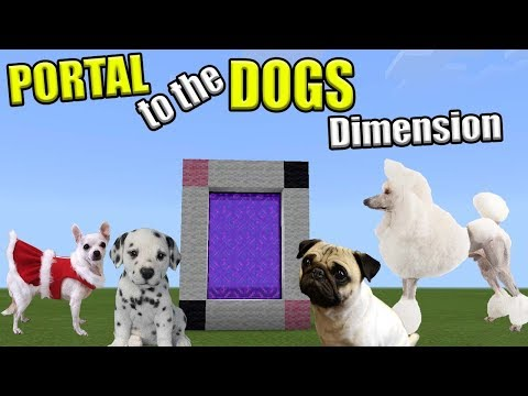PORTAL to the DOGS Dimension   Minecraft PE