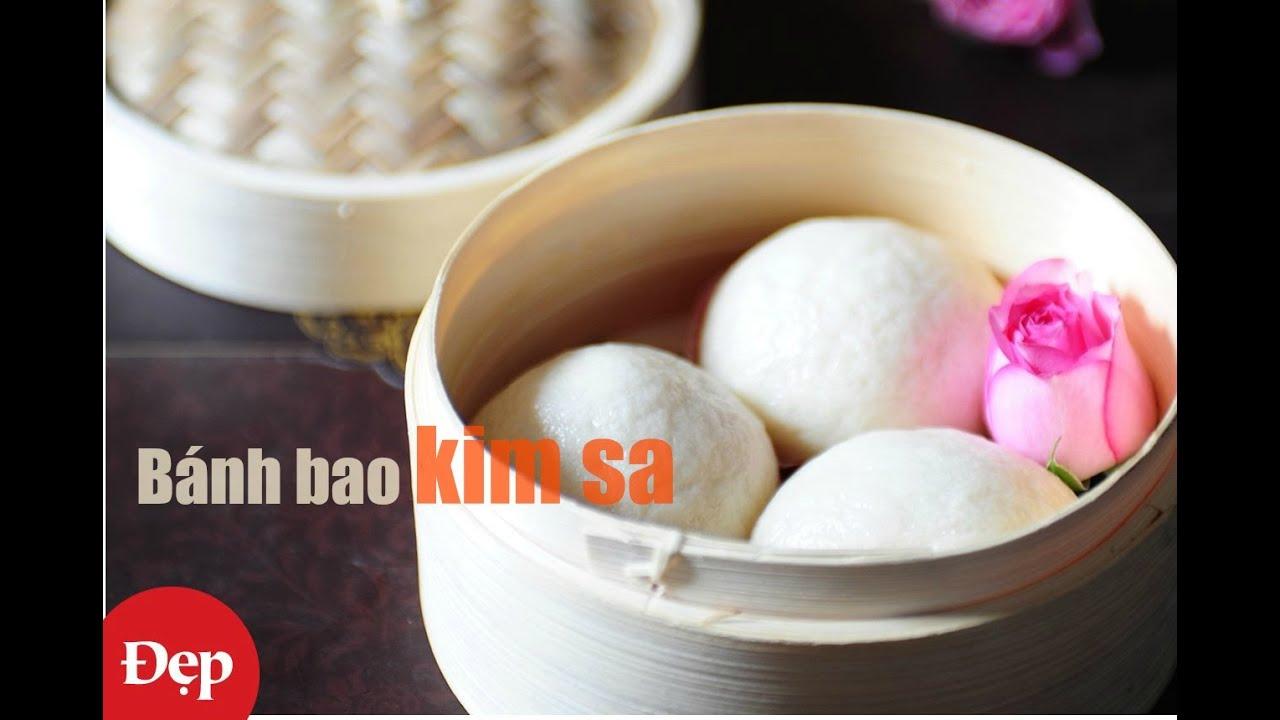 Cách làm bánh bao kim sa (Salted Egg Custard Steamed Buns – Liu Sha Bao)