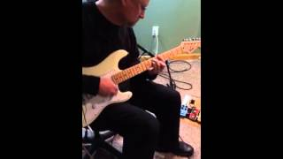 White Strat Demo by Filthy Dave 12/30/14 (Fat Pat Humbucker by GFS)