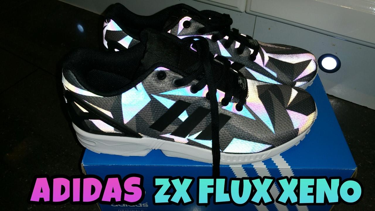 Adidas Originals ZX flujo Xeno (Black & White) unboxing y Review