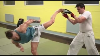 Conor McGregor amazing training leg kicks [highlights]