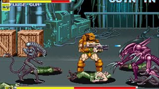 Alien vs Predator - ( Mame / Arcade ) - Full Playthrough - No Death