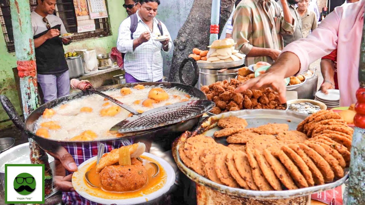 Eating All the Food from THELA Challenge | Indian Street Food | Veggiepaaji