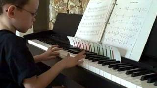 6 yr old Autistic Child on Piano Man Week 2