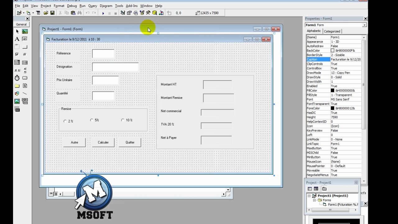 3 visual basic editer une facture darija msoft hd youtube. Black Bedroom Furniture Sets. Home Design Ideas