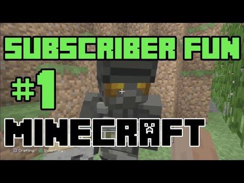 Playing Minecraft: SUBSCRIBER FUN!! (#1) (KID GAMING)