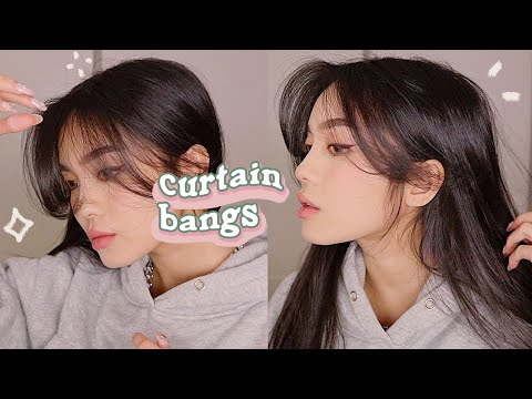 HOW TO STYLE CURTAIN BANGS + LAYERS  💫 HAIR TUTORIAL - YouTube