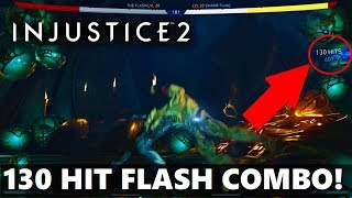 Injustice 2 - 130 Hit Flash Combo!