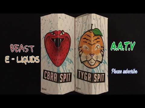 CBRA SPIT & TYGR SPIT E LIQUID REVIEW. ( 2 in 1 review )