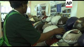 Recycled rugby balls in South Africa