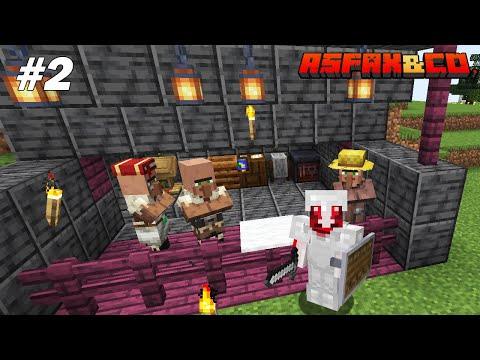On transforme les villageois en zombies ! Minecraft Asfax&Co 2