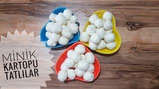 Kolay Minik Kartopu Tatlıları l Hindistan Cevizli Toplar l Yemek Tarifleri