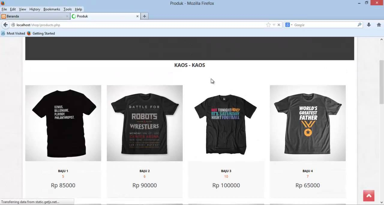 Tutorial Make a Simple Website E-Commerce with PHP MySql and ...