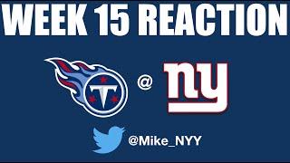 NY Giants Week 15 Reaction (RIP 2018)