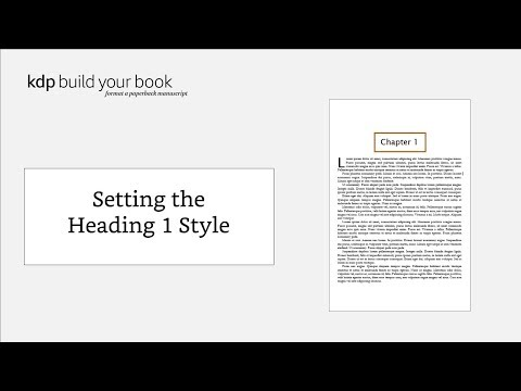 Build Your Book - Format a Paperback Manuscript (Word for