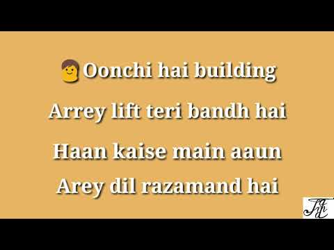 Oonchi Hai Building 2.0 full karaoke song with female voice and lyrics (Judwaa 2)