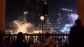 Water music Dubai Fountain - Pavarotti - January 28 2015