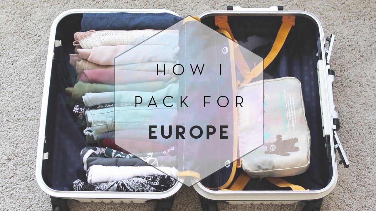 How I Pack for Europe (KonMari) - YouTube a1f9a1e8914b8
