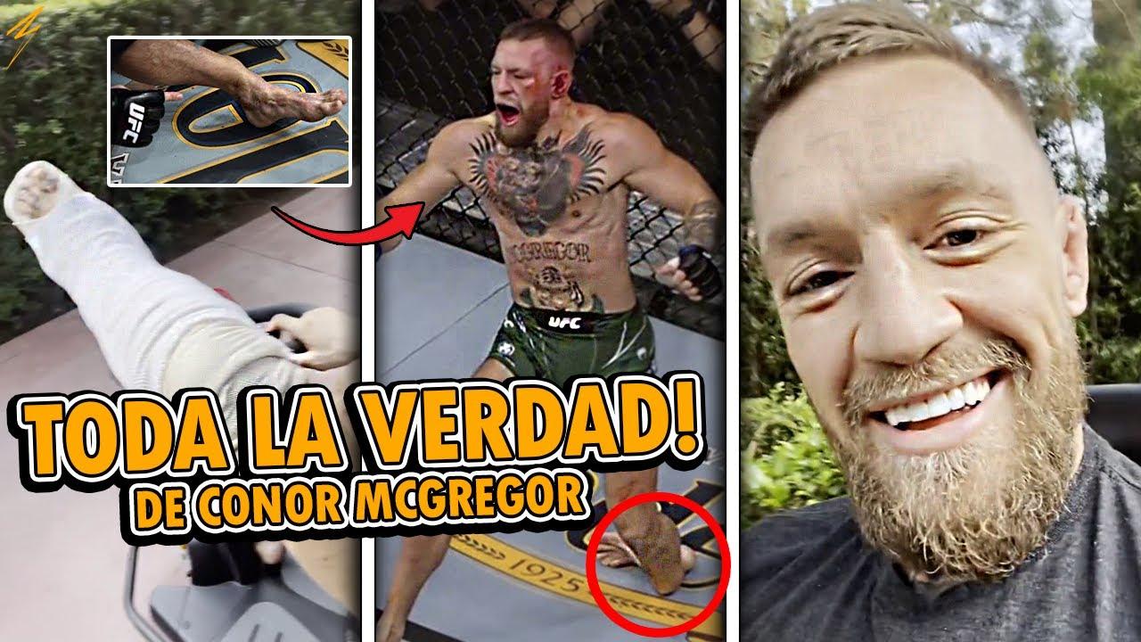 CONOR MCGREGOR HABLA por PRIMERA VEZ de SU LESIÓN! en UFC 264 | ESTABA FRACTURAD0 ANTES DE UFC 264